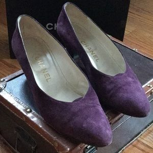 Chanel Authentic suede shoes size 36.5